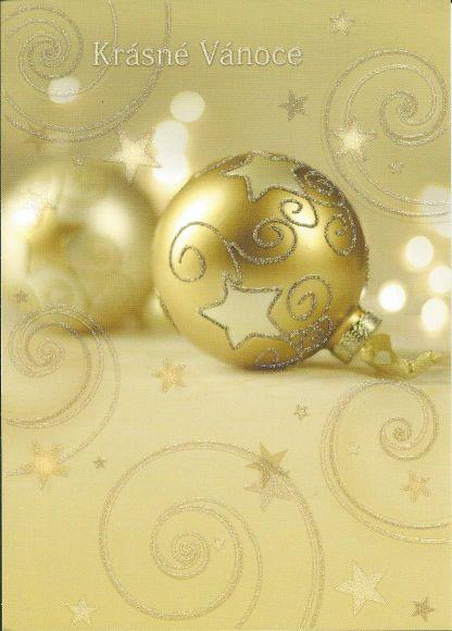 Kerst Nieuwjaarskaart Kerstbal Tsjechische Wens Tsjechshop